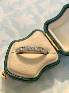 Estate milgrain diamond band