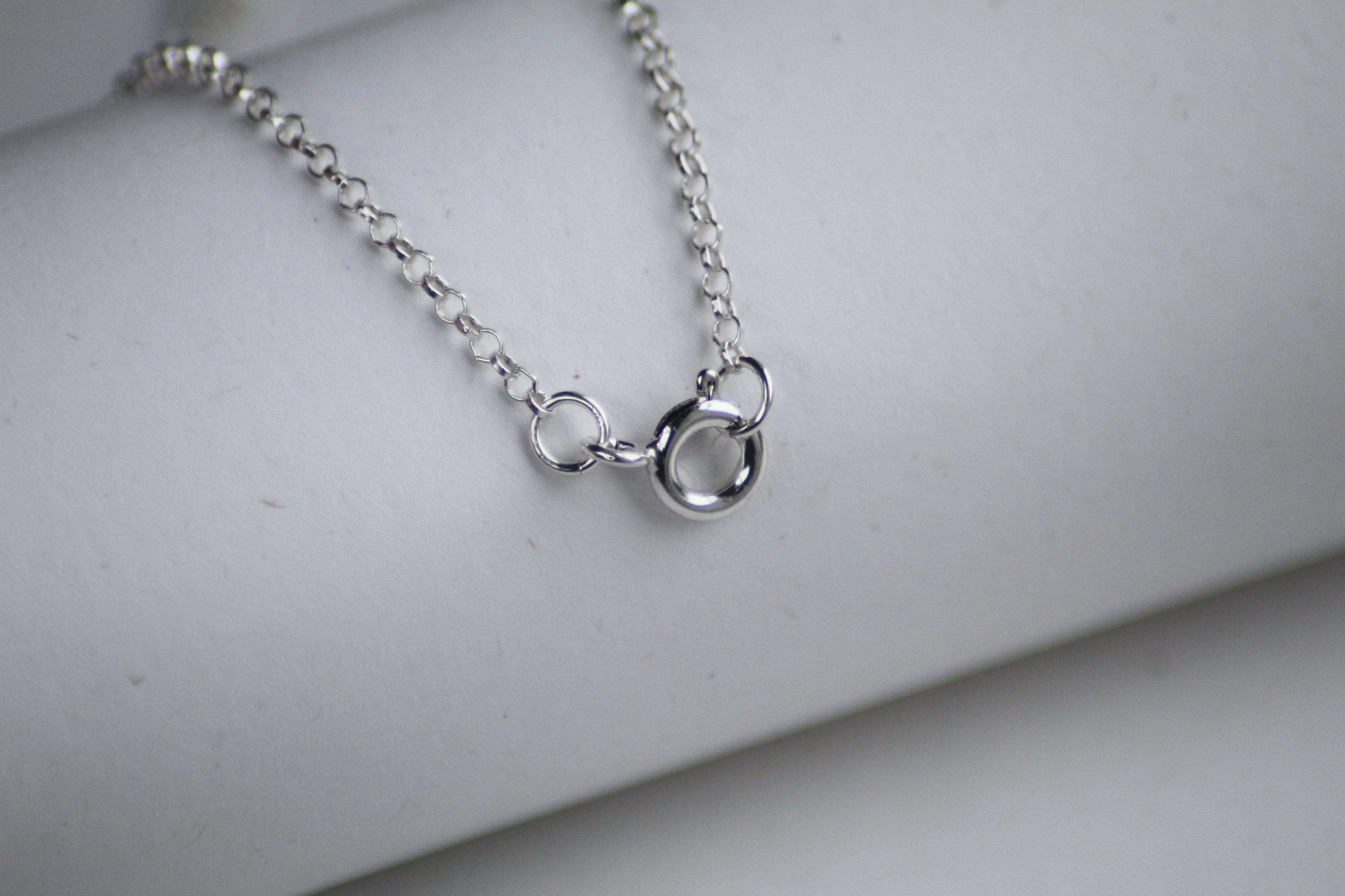 Sterling Silver Personalised Initial Necklace - The Jewellery Hut UK