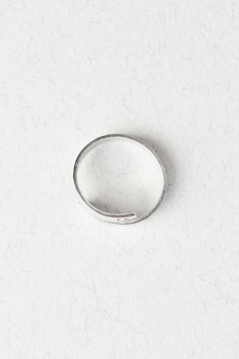 Personalised Sterling Silver Wrap Ring on a white background