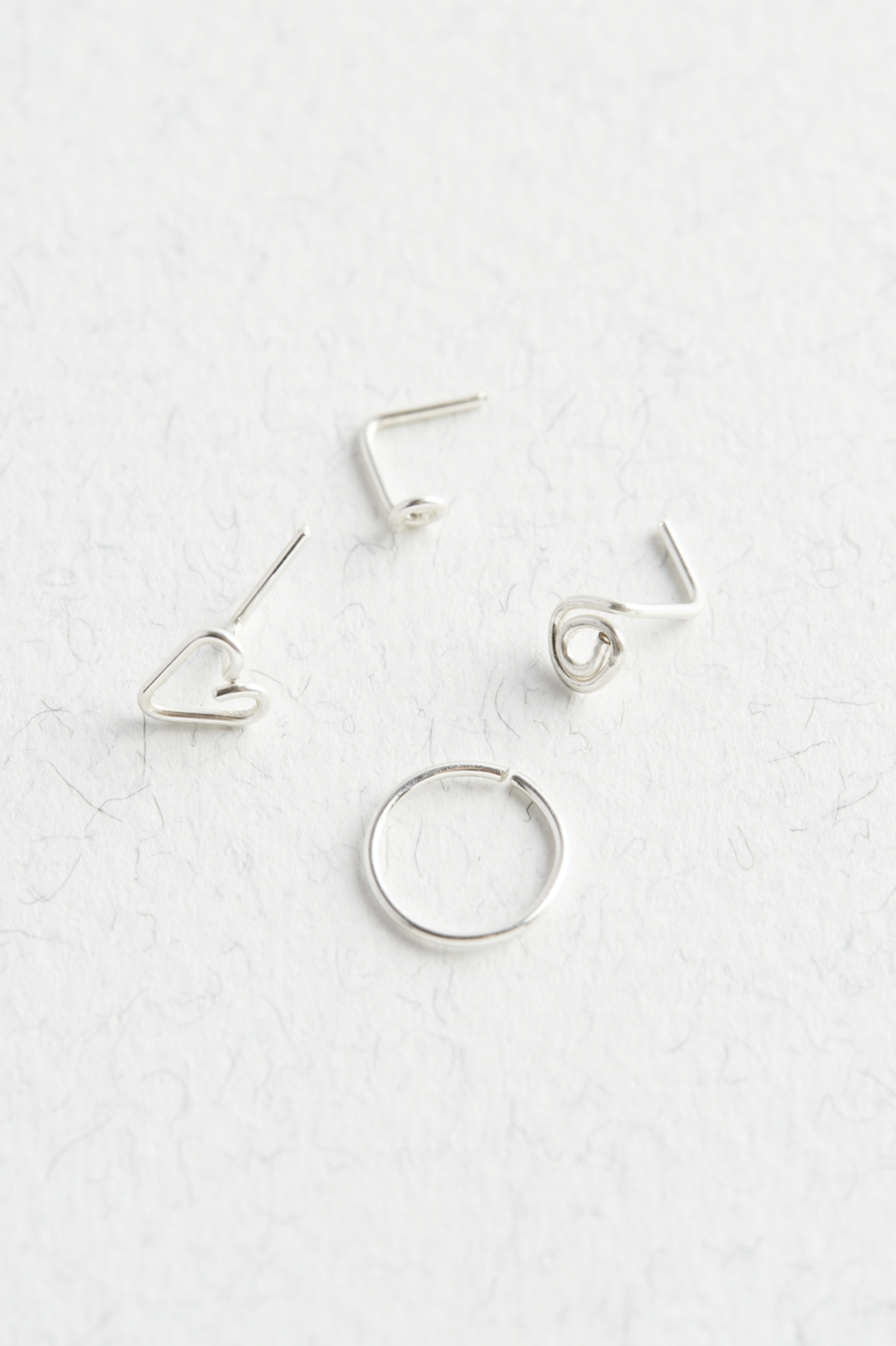 Sterling Silver Nose Stud Set - The Jewellery Hut UK