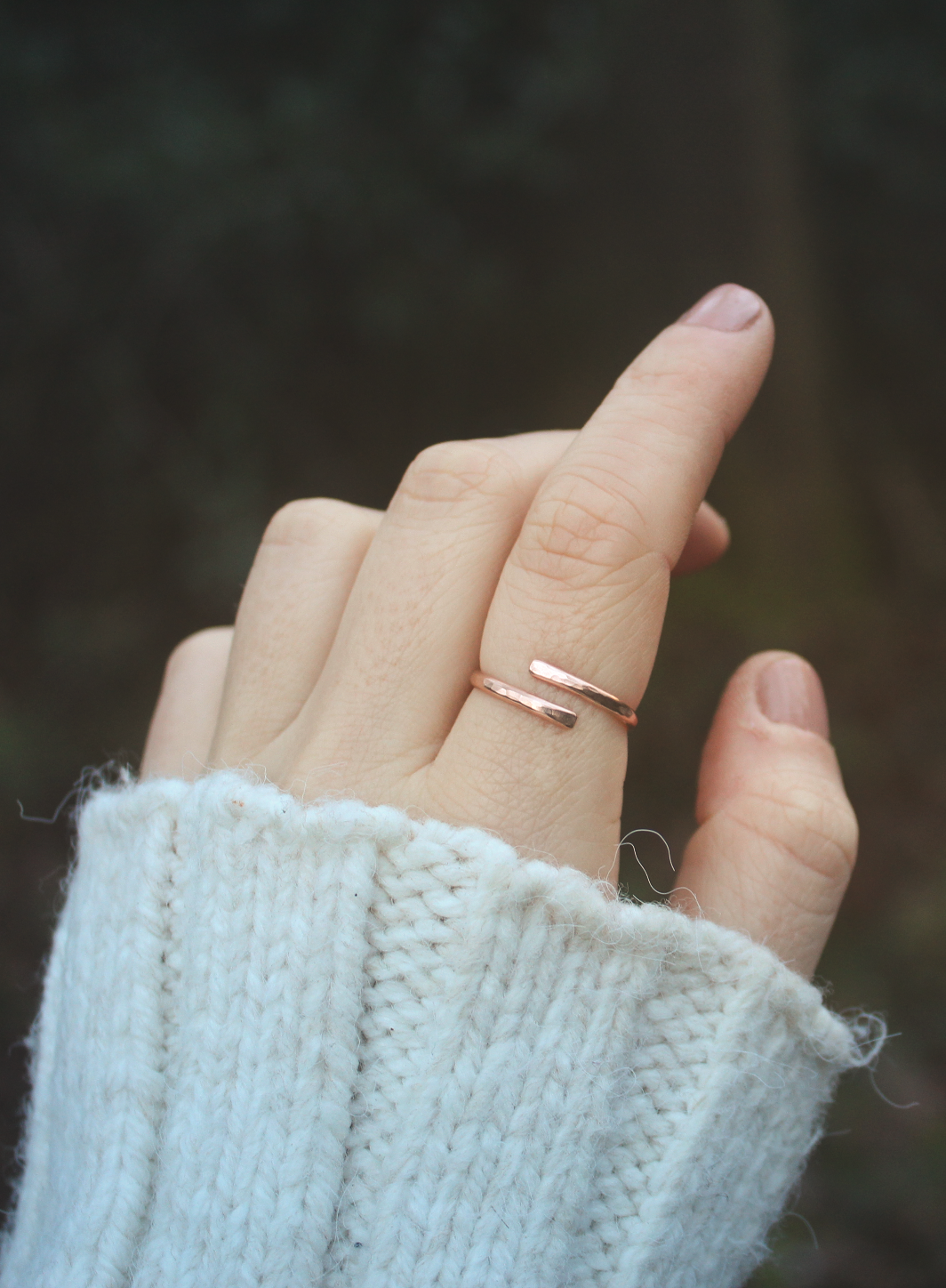 14K Rose Gold Wrap Ring