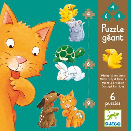 Djeco Puzzle- Misty & friends 4,6,9 (DJ07113)