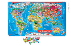 Magnetic World Puzzle English Version (J05504)