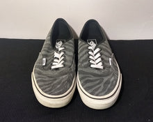 Load image into Gallery viewer, Vans Authentic Black Grey Zebra Suede Mens Shoe size 7
