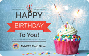 Half Price AMVETS Thrift Store Gift Card (Limited Time Only)