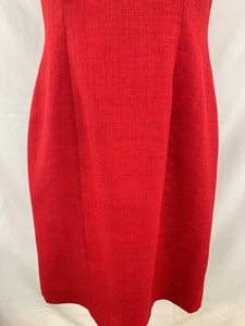 Tahari Arthur S. Levine Size 6P Dark Red Women` s Cap Sleeve Sheath Dress