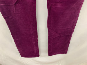 Talbots Women sz 4L Egg Plant Purple Corduroy Heritage 4 Pocket Pant Cotton Stre