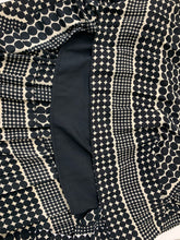 Load image into Gallery viewer, WHO WHAT WEAR Women's Black White Poka Dot Diamond Skirt