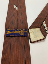 Load image into Gallery viewer, Vintage Alessandrodi Milano Brown Skinny Tie 54 1/2""