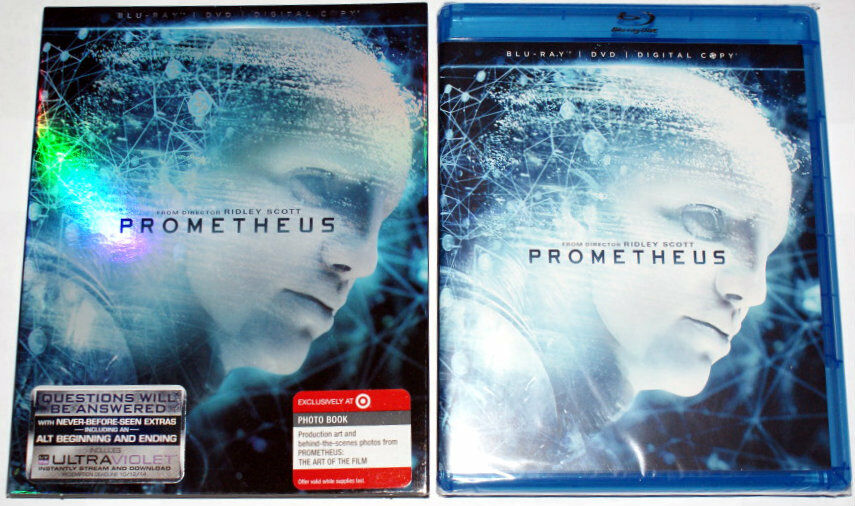 USED-Prometheus (Blu-ray + DVD, 2-Discs)  In slip jacket