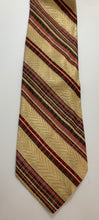 Load image into Gallery viewer, Pierre Cardin Tie, All Silk Vintage Brown and Red Stripe pattern 55""