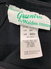 Load image into Gallery viewer, Vintage 1970's Women's Greentree by Walden size 20.5 Black Knit Dress