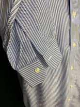 Load image into Gallery viewer, Brooks Brothers Traditional Fit Shirt Blue Striped Men's 16 - 33