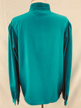 Load image into Gallery viewer, Vintage Women's Astor One size 14 Dark Turquoise Pleated Blouse