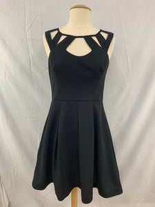 Betsy Johnson size 4 womens Black flair cutout cocktail Dress