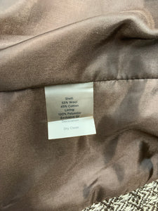 Talbots Petites Womens size 8P Wool Blend Lined Brown Tan Blazer Jacket