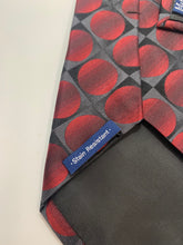 Load image into Gallery viewer, John Ashford 100% Silk Red Circle  Tie 61""