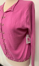 Load image into Gallery viewer, NWT Lord and Taylor Pink Hook Eye Down Cashmere Sweater sz M