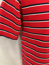 Load image into Gallery viewer, IZOD Boy's Large (14-16) Polo Double Mercerized Red White Black Strip Short-Slee