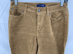 Talbots Women sz  2 Earth Brown Corduroy 5 Pocket Pant Cotton Stretch Jeans
