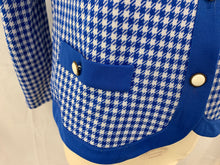 Load image into Gallery viewer, Polyester Size 10 Blue White Checkered Long Sleeve Jacket