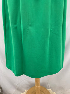 Homemade Vintage Women's Plain Green Skirt Closed Split