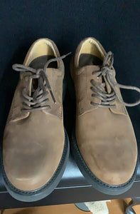 MENS ROCKPORT OXFORD BROWN LEATHER SUEDE LACE UP CASUAL DRESS SHOES size