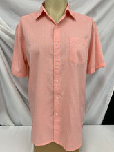 Load image into Gallery viewer, Men's Croft & Barrow Easy Care Short Sleeve Button Down Salmon Shirt size L