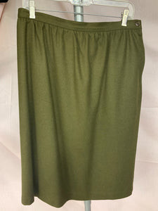 Alfred Dunner Size 16 Wool Stretch Waist Skirt