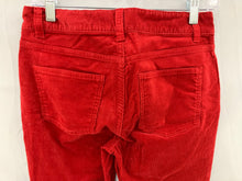 Load image into Gallery viewer, NWT Talbots Women 2 Crimson Corduroy Heritage Slimming 5 Pocket Pant Cotton Stre