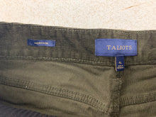 Load image into Gallery viewer, Talbots Women sz 4L Dark Army Green Corduroy Heritage 4 Pocket Pant Cotton Stret