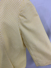 Load image into Gallery viewer, TALBOTS Yellow White Womens Open Front Jacket