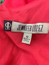 Load image into Gallery viewer, NWT Jennifer Lopez size 12 Rivera Chic Dress Electric Pink Sleeveless