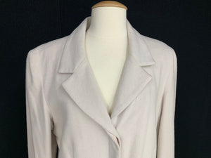 J JILL Size 14 Light Blush Wool Blend Blazer Jacket Coat