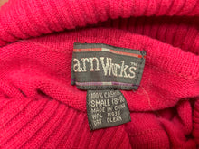 Load image into Gallery viewer, Yarn Works Women's Cashmere Magenta Turtlenect Sweater sz S (8-10)