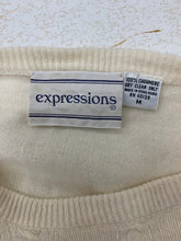 Load image into Gallery viewer, expression Women`s size M Ivory Cashmere Sweater