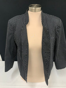 Olivia & Martin Dark Brown and White Poka Dot Jacket sz PXL