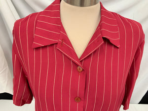 Mark Edwards Brand Vintage Sort Sleeve Shirt Size 12 - Large