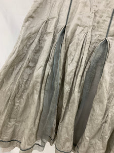 Apanage size 46 Skirt Below Knee Length Silver Gray Renaissance Festival Goth Gr