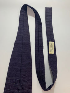 Vintage Rooster Brand Ties 2 Square End Plaid & Navy Blue 55""