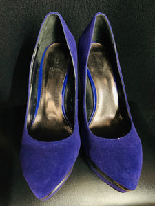 NEW Bakers Tenley Blue Suede Upper Leather Stiletto Heels Pumps Size 7 M