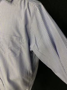 Brooks Brothers Traditional Fit Shirt Blue Striped Men's 16 - 33