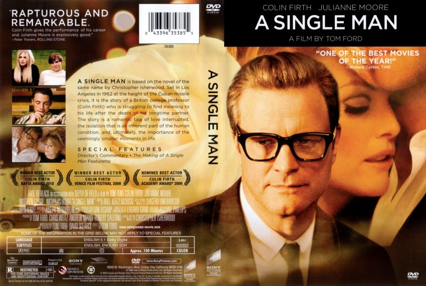 A Single Man (DVD 2010) Colin Firth