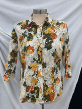 Load image into Gallery viewer, Vintage Breckenridge Petite Print 3/4 Sleeve Shirt Size PL