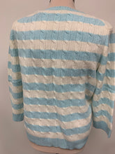 Load image into Gallery viewer, Lord and Taylor Pastel Blue and Ivory Cashmere Sweater sz XL