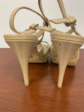 Load image into Gallery viewer, BOSTON PROPER IVORY OPEN TOE HEELS size 6M