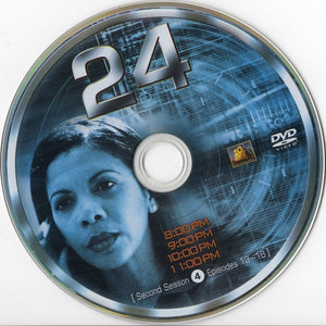 USED- 24 Second Season Dvd Replacement disc 4 ONLY