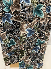 Load image into Gallery viewer, Moda Campia Moda sz M Mens Short Sleeve Leaf Print Shirt