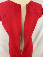 Load image into Gallery viewer, Tahari Arthur S. Levine Size 6P Dark Red Women` s Cap Sleeve Sheath Dress
