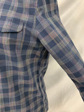 Load image into Gallery viewer, Men's Ben Sherman  sz L Blue Stripe Plaid Long Sleeve Button Up Shirt